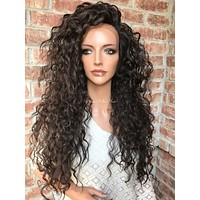 Foxy Waves Human Hair Blend Multi Parting lace front wig 24""