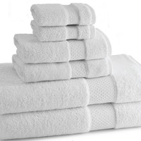 Elegance Towels | Set of 6| White