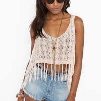 Fringed Crop Tank in  Clothes Tops Cropped at Nasty Gal