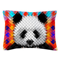 Geometric Panda Pillow Shams