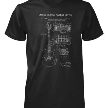 Gibson Patent Guitar Male T-shirt