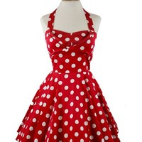 Ixia Women's Polka Dot A-Line Pinup Dress