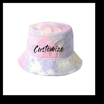 Custom Tie Dye Bucket Hat