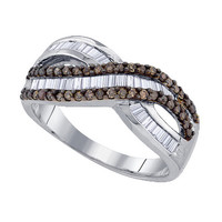 Diamond Fashion Ring in Sterling Silver 0.76 ctw