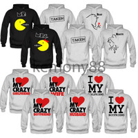 couples matching hoodies i love my boyfriend girlfriend taken mr mrs beast beaut