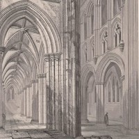 1860s Antique Print Glasgow Cathedral Scotland (A73) by Grandpa's Market