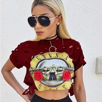 GUNS N ROSES Crop Top
