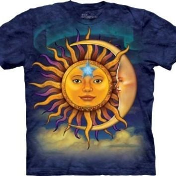 The Mountain Sun Moon Adult T-shirt
