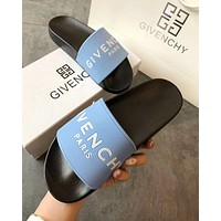 Wearwinds GIVENCHY PARIS Classic Women Men Comfortable Sandals Slipper Shoes Blue