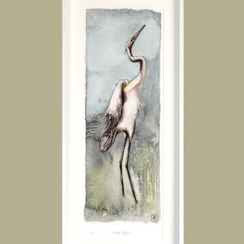 Giant Egret - Signed Print in an edition of 275, in one print size by Ann Richmond on Etsy.