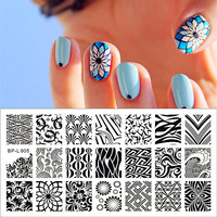 Wave & Texture Patterns Nail Art Stamp Template Image Plate Stamping Plate BORN PRETTY BP-L005 12.5 x 6.5cm