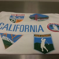Vintage 90's California City's Tank Top Size Large White Hollywood Palm Springs San Francisco San Diego LA Los Angles