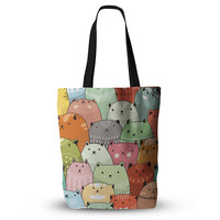 "Snap Studio ""Kitty Attack"" Cat Illustration Everything Tote Bag"