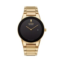 Citizen Men's Eco-Drive Axiom Gold Tone Stainless Steel Watch - AU1062-56E