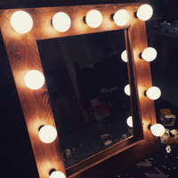 ON SALE Rustic Hollywood Vanity Lighted Mirror!!!