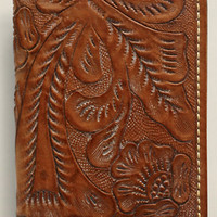 Tooled Leather Card Wallet