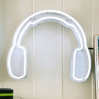 Headphones Neon Wall Light