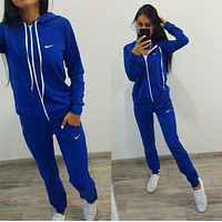 :Nike :Fashion Letter Long Sleeve Shirt Sweater Pants Sweatpants Set Two-Piece Sportswear