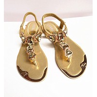 Hot fashion rhinestone summer shoes woman elastic band clip toe sandals