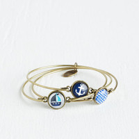 Nautical You've Yacht to See This Bracelet Set by ModCloth