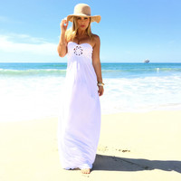 Plath Maxi Dress In White By SKY
