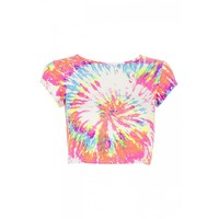 Neon orange and pink crop top at debenhams.com