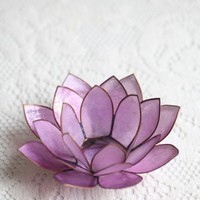 Lavender Lotus Tealight Holder | Modern Vintage New Arrivals