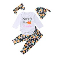 Halloween Pumpkin Baby Boys Girls Cotton Romper Pants Outfits Clothes 0-24M Newborn Baby Boy Girl Halloween Clothes  Set