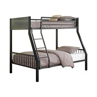 G460390 - Meyers Twin, Twin Over Full, Full Metal Bunk Bed - Black And Gunmetal