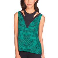 1.State Sleeveless Nomad Etching Blouse