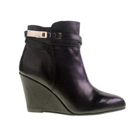 Unleash Leather Wedge Bootie With Buckle Closure | Chinese Laundry