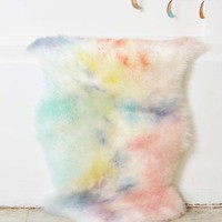 AELFIE Watercolor Sheepskin Rug