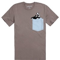 AMBSN Splash Pocket T-Shirt - Mens Tee - Gray Speckle