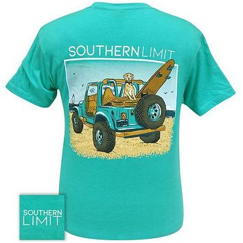 Southern Limits Beach Ridin Dog Jeep Unisex T-Shirt