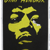 Jimi Hendrix Face Iron Sew On Embroidered Badge Patch