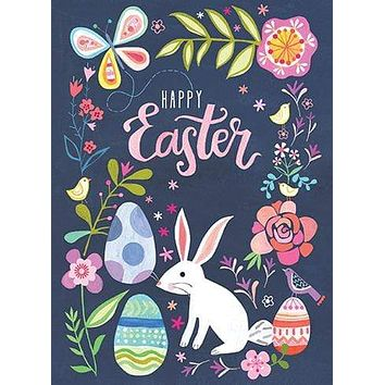 Bunny Floral Easter Card
