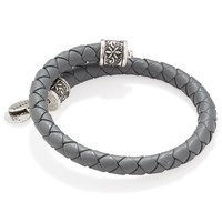 Spring Shower Braided Leather Wrap