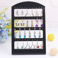 New Black Rack Plastic Display Stand Holder 24/48 Holes Earrings Ear Studs Show = 1706162692