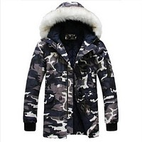 2017 Brand Clothing Warm Hot Fashion Jackets Thick Parka Long Sleeve Men Winter Coat Male Camouflage  cotton-padded warm clothes