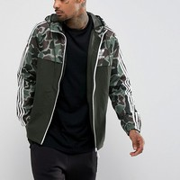 adidas Originals Reversible Camo Windbreaker In Green BS4894 at asos.com