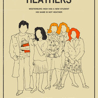 Heathers Movie Poster Art Print by Jazzberry Blue | Society6
