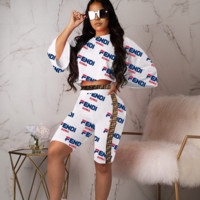 White FENDI Women Two Pieces Sets
