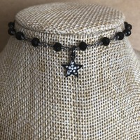 CHOKER Mini STAR Pendant  on Rosary Chain