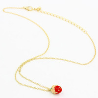Gold Strawberry Chain Necklace