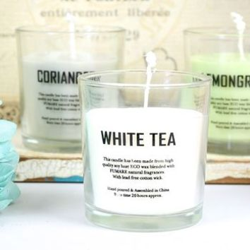 Set Of Three Scented Eco Candles