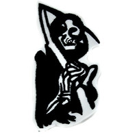Grim Reaper Iron On Patch Sons of Anarchy Applique Gothic Clothing