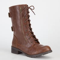 Soda Dome Womens Boots Tan  In Sizes