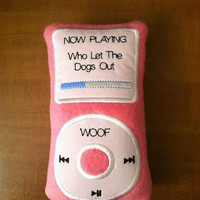 Ipod Dog Toy - Choice of ONE Toy and ONE Color (Pink and Lavender are only colors available at this time)