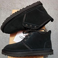 UGG new mid-cut Martin boots fashion wool snow boots non-slip warm shoes men and women snow shoes 4