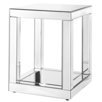 Mirrored Column Accent Table 20""